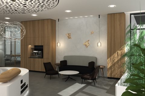 Studie interiéru Wiener Privatbank – Bratislava