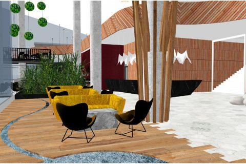 Studie interiérů konferenčního hotelu Gothal